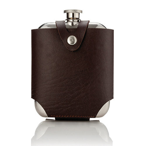 Admiral Stainless Steel Flask and Traveling Case - Flask - Uncle Whiskey - Uncle Whiskey