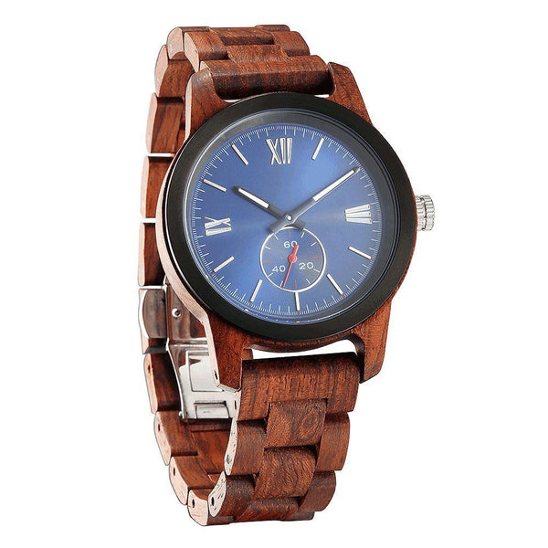 Men's Handcrafted Kosso Wood Watch - Men - Accessories - Watches - Uncle Whiskey - Uncle Whiskey