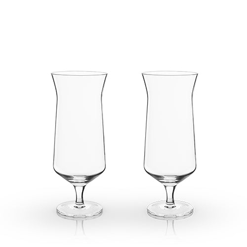 Angled Hurricane Glass - Glassware - Uncle Whiskey - Uncle Whiskey