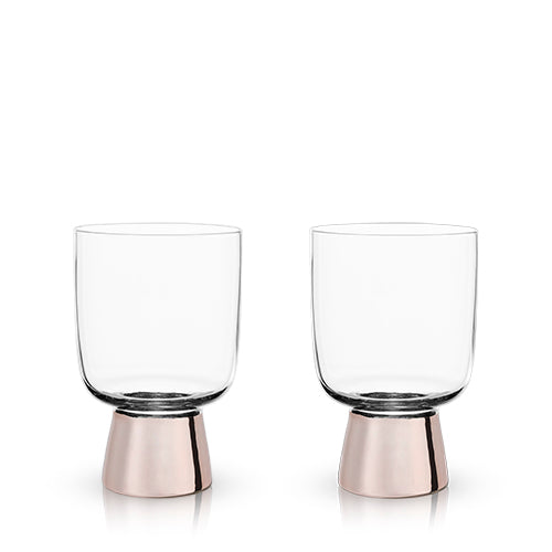 Copper Footed Tumblers - Tumblers - Uncle Whiskey - Uncle Whiskey