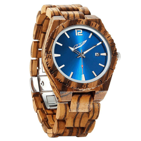 Men's Personalized Zebrawood Watches - Men - Accessories - Watches - Uncle Whiskey - Uncle Whiskey