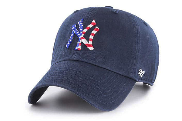 Clean Up New York Yankees Navy Spangled Banner Adjustable Cap