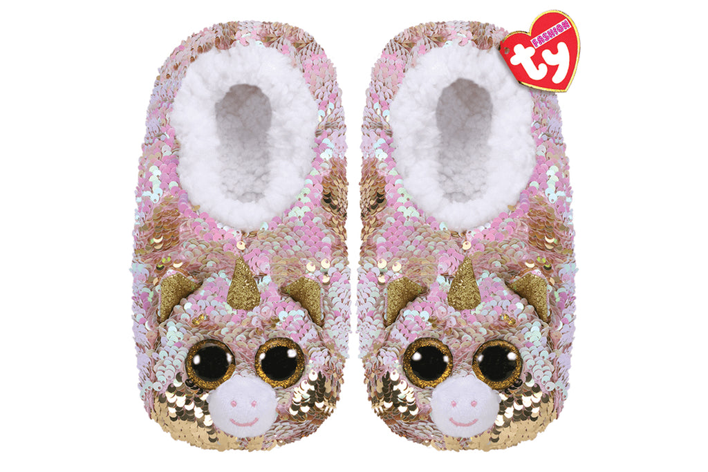 Fantasia Unicorn Reversible Sequin Slippers