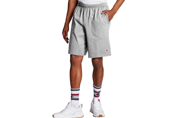 Men's Oxford Grey 9-Inch Classic Jersey Cotton Shorts