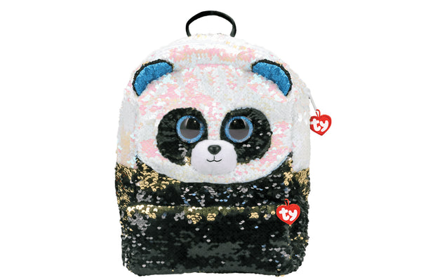 Bamboo Reversible Sequin Square Panda Backpack
