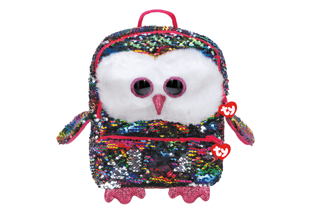 Owen Reversible Sequin Square Owl Backpack