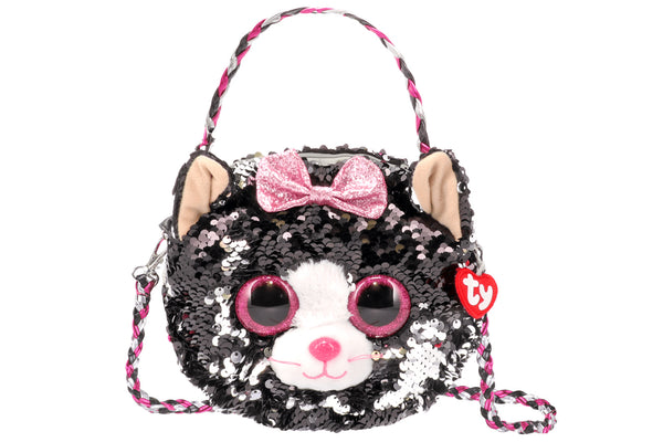 Kiki Reversible Sequin Cat Purse