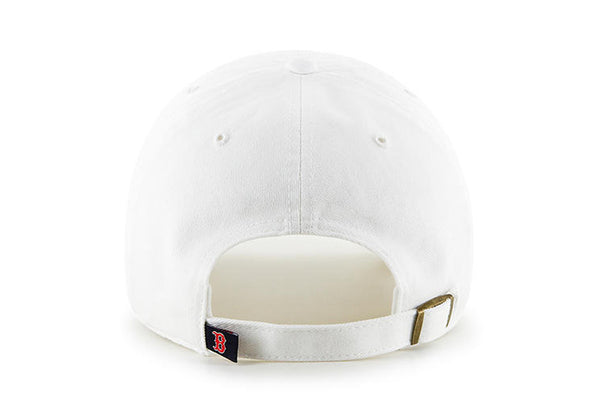 Clean Up MLB Boston Red Sox White Adjustable Cap