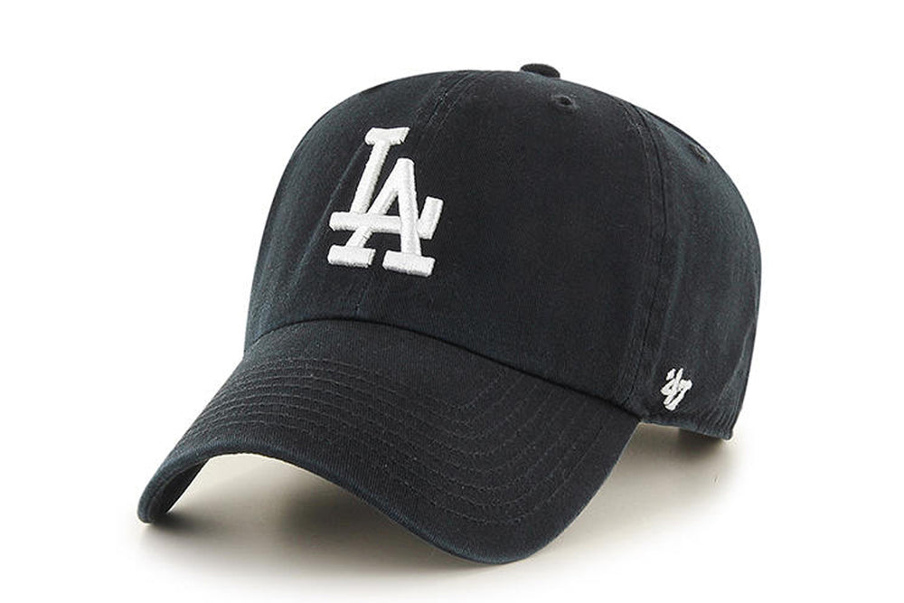 Clean Up MLB LA Dogers Black Adjustable Cap