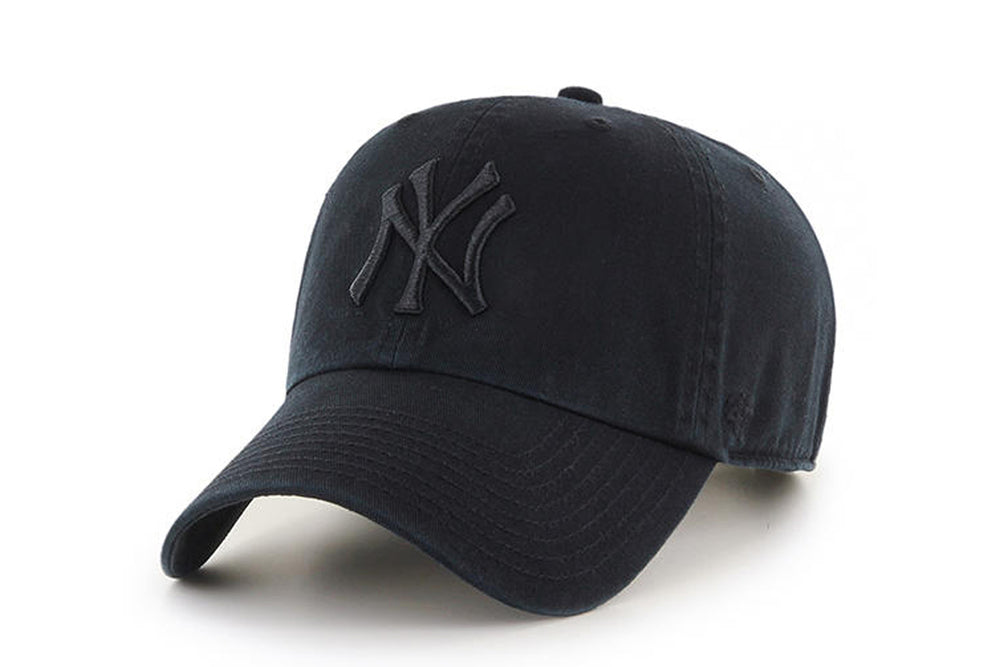 Clean Up MLB New York Yankees All Black Adjustable Cap