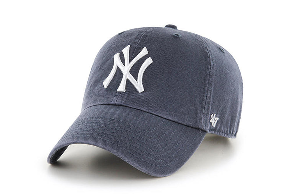 Clean Up MLB New York Yankees Vintage Navy Adjustable Cap