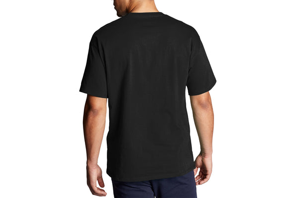 Men's Black Graphic Jersey Tee, Script Logo