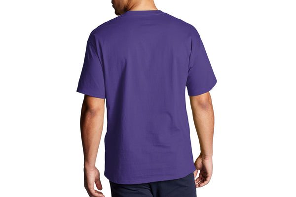 Men's Purple Graphic Jersey Tee, Script Logo