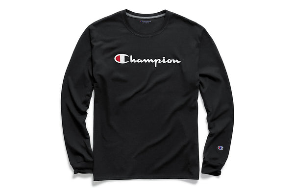 Men's Black Classic Graphic Long Sleeve Tee