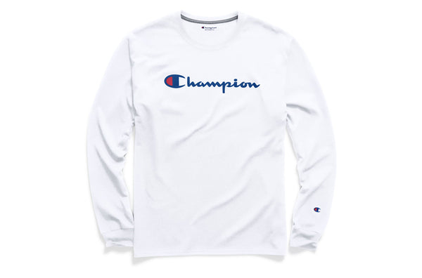 Men's White Classic Graphic Long Sleeve Tee