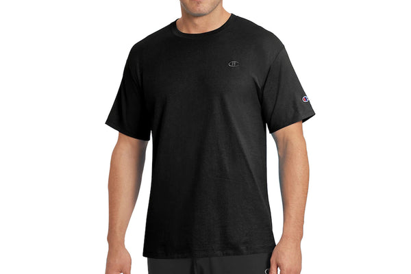 Men's Black Classic Athletic Fit Jersey Tee