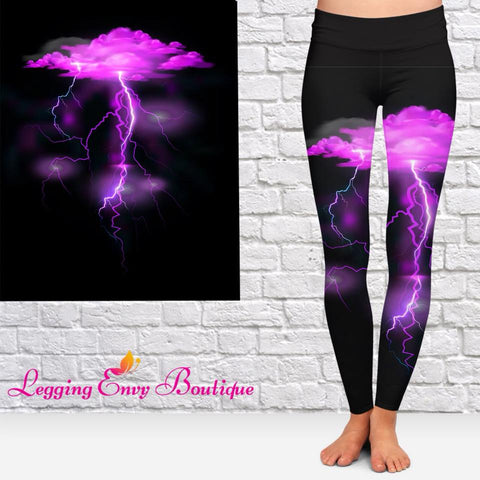 Purple Lightning Leggings