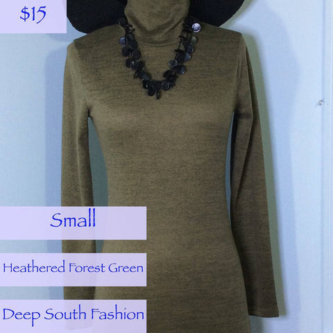 Spruce Green Turtleneck Sweater