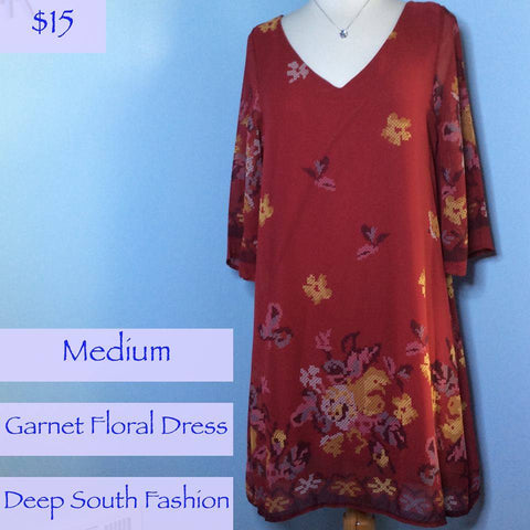 Garnet Floral Sheath Dress