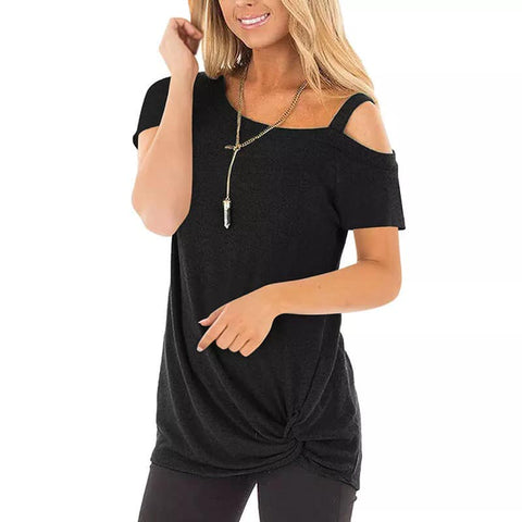 Cold Shoulder Strap Tee