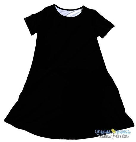 Solid Black Charley Dress
