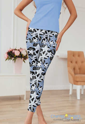 Sea Stars Capri Leggings