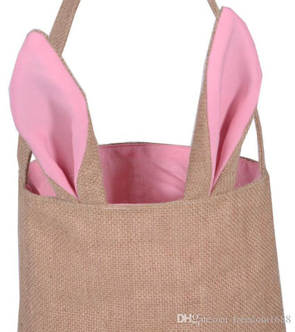 Burlap Easter Bag with Bunny Ears