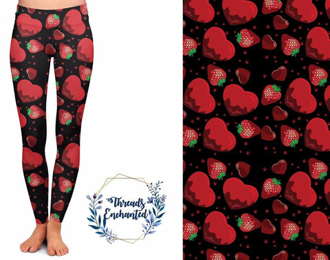 Valentine Strawberry Leggings