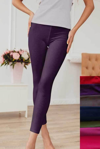 Solid Eggplant Leggings