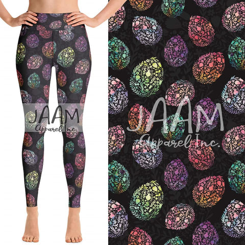 Floral Easter Egg Leggings