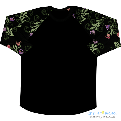 Flourish Night Baseball Style Tee