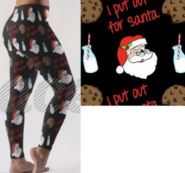 I put out for Santa Christmas Leggings