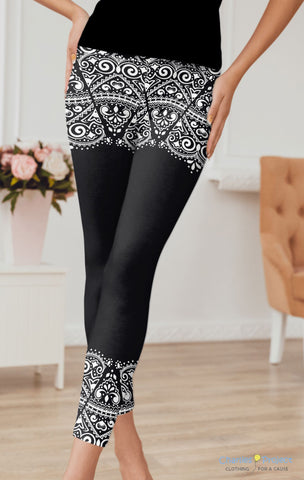 Lace Edges Leggings