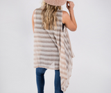 Lightweight Striped Vest