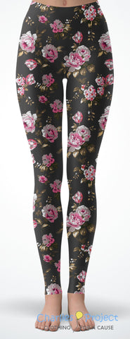 Cabbage Rose Capri Leggings