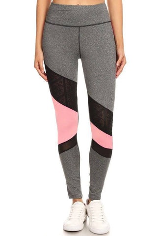 Premium Triangular Mesh Workout Leggings