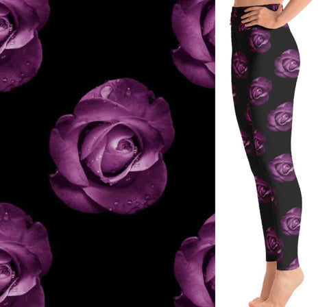 Purple Rose Leggings