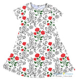 Vines and Roses Charley Dress