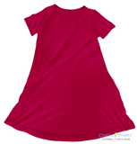 Solid Cherry Charley Dress