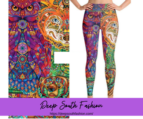 Stained Glass Animals Leggings