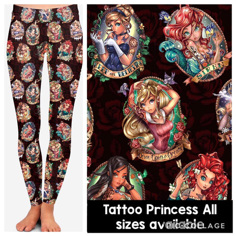 Tattoo Princess Leggings