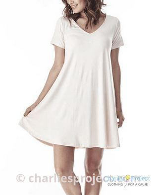White Bamboo Swing Dress