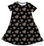 Autism Puzzle Hearts Charley Dress