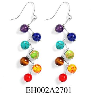 7 Chakra Bead Earrings