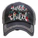 Wild Child Distressed Ball Cap