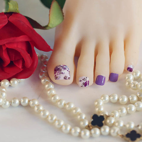 Rose Kissed Lavender Mini Nail Strips