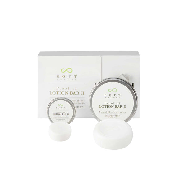 Proof of Lotion Bar II - Gift Set (Greenery Mist-Scent of Soft Green Forest Blossom) - SOFT THEORY