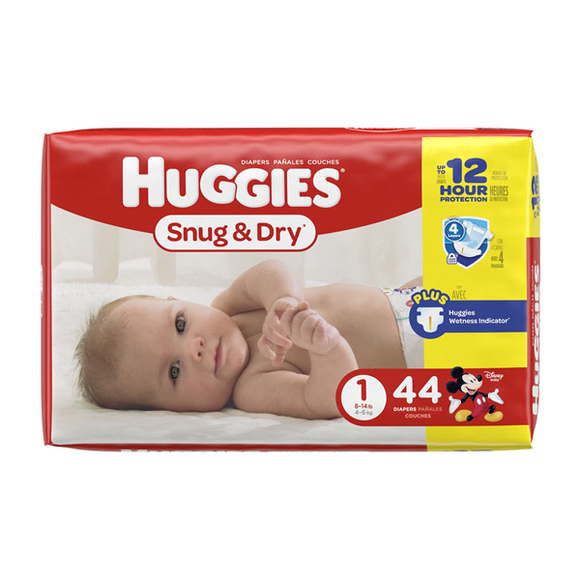 Huggies Jumbo Snug & Dry #1/ 4/ 44 ct