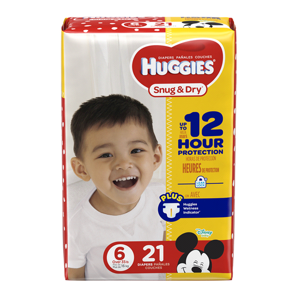 Huggies Jumbo Snug & Dry #6/ 4/ 21 ct