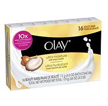 Olay Beauty Bar Soap Ultra Moisture W Shea Butter 16pk 4/ 4 oz